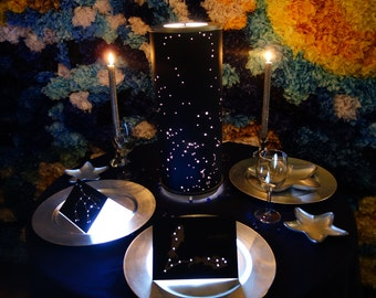 Shadow Constellations Custom Shade & Table Lamp - Spring Night Sky North-Western Hemisphere  - Celestial Collection DDOTS