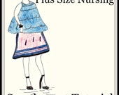 Pattern Download-PDF Pattern-Designer Plus Size Nursing Supplement Sewing Tutorial-Feeder Frock Cover-Includes Bonus Hermit Living Kids Book