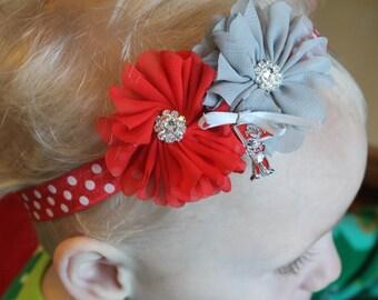 Ohio State Baby Headband, Ohio State Headband, Buckeye Headband, Brutus Headband, Ohio State Photo Prop