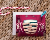 christmas card set, holiday card, greeting card, note card, cocoa, hot chocolate, coffee mug, winter, fine art photography / christmas cocoa