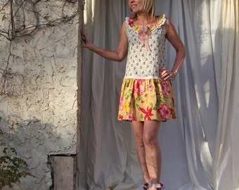 upcycled clothing . S - M . dress . cayley