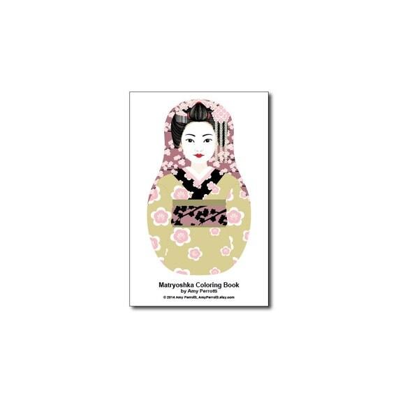 Matryoshkas (B) Mini Coloring Book Printable file
