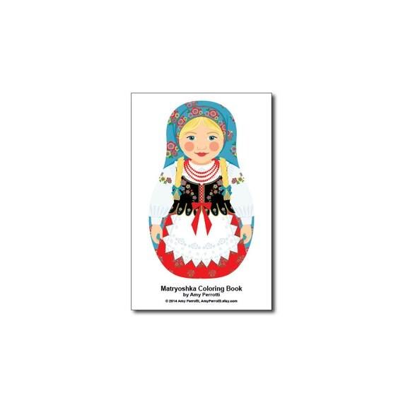 Matryoshkas (C) Mini Coloring Book Printable file