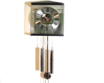 60s George Nelson Grandfather Clock for Howard Miller Mid Modern Wall Clock