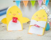 Easter chick printable candy huggers party favor single candy holders for kids classroom easter party cute gift for kids to take to school