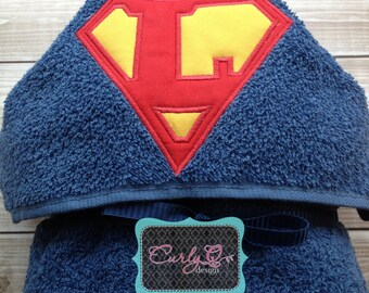 Superhero hooded towel - custom and personalized