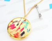 Artist Locket Necklace - Gold