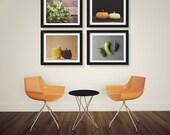 Save 20%, Food Photography Print Set, Rustic Kitchen Art, Food Photograph, Peppers Pumpkins Parsley, Farmhouse Cottage Kitchen Decor