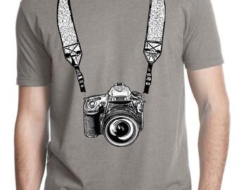 photographer shirt - photographer gift - photography gifts - mens tshirt - camera shirt - film camera - mens shirts-TAKE A PICTURE-crew neck