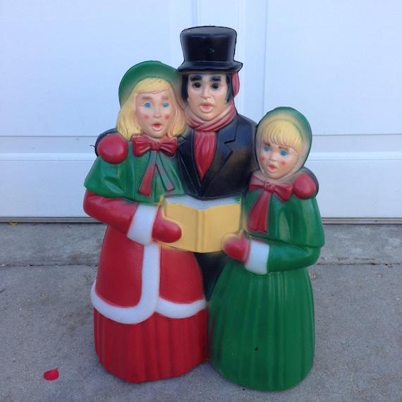 Vintage Christmas Decorations Mouse Carolers Set Jasco: Vintage Blow Mold Christmas Carolers Christmas Lawn Decor