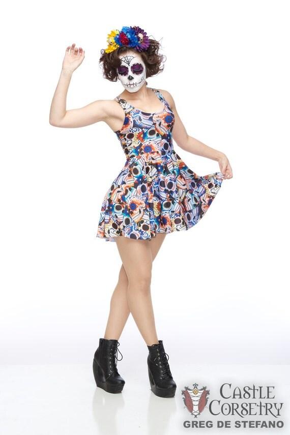 Sugar Skulls Skater Dress