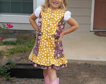Girls Jumper PDF Sewing Pattern ... Fauna Color Block Jumper ... Girls Dress Pattern