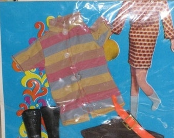 """Vintage Barbie Clone Tina Mod Doll Fashions Outfit for 11-1/2"""" Barbie Clone Doll in Original Package Carnaby Street"""