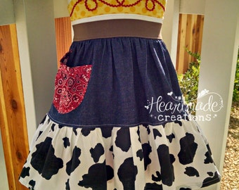 Cowgirl Jessie - Disney inspired flutter strap dress - sizes 12/18months through 9/10