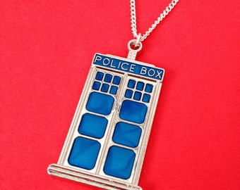 Doctor Who 'Tardis' Long Length Necklace