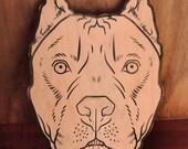 Pit Bull Wood Cutout - Unpainted
