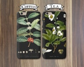 Phone Cases - Coffee and Tea, Opposites Attract - Couples iPhone 6, 5/5S 5C, Galaxy s4 s5 Cases Tea and Coffee iPhone Cases