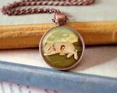 Bunny Necklace, Bunny Pendant, Bunny Jewelry, Bunny Animal Necklace, Rabbit Art, Animal Jewelry, Kids Jewelry Children - The Snuggle Bunny
