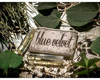 blue velvet - natural perfume oil mini sampler - primary notes: wild blueberry & violet leaf