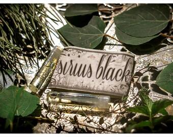 sirius black - natural perfume oil mini sampler twin pack - primary notes: immortelle flowers, teak and musk