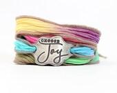 Today I choose joy, silk wrap bracelet, survivor jewelry, meaningful jewelry, meaningful gift, made in USA, inspirational bracelet