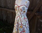 Strawberry Shortcake Pin Up Dress-Recycled OOAK