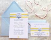 Regatta Nautical Wedding Invitations - Sailing Wedding - Beach Wedding - Summer Wedding - Ocean Wedding - Destination Wedding