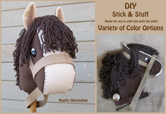 MADE to ORDER UNSTUFFED Stick and Stuff Stick Horse Head Choose Color