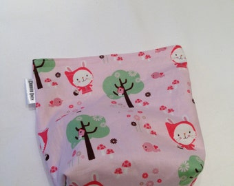 Eco Friendly All Cotton Snack/Sandwich Bag With Gusset Bottom - Little Red Riding Hood