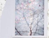 Fairy Lights Photo Notecard - Twinkle Lights Photo Notecard, Stationery, Blank Notecard