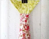 Plush Fabric Fish - Catch Of The Day - Dainty Floral Design