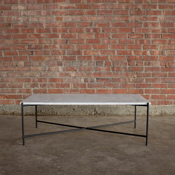 Granada Carrara Marble Coffee Table By CroftHouseLA On Etsy