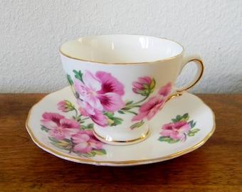 Vintage Royal Vale Bone China Teacup and Saucer
