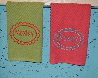 Custom Monogram Kitchen Towel