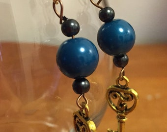 Celtic Triskele Key Earrings