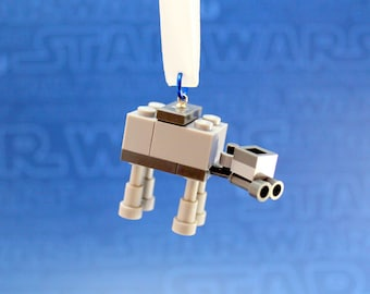 AT-AT Walker Star Wars Christmas Ornament made from Genuine New LEGO (r) Pieces
