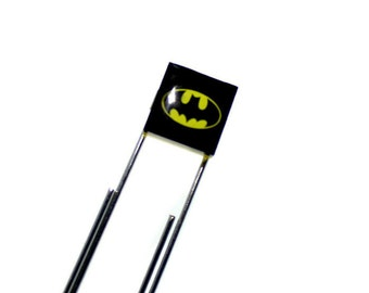 Superhero Bookmark, Geek Paperclip Bookmark made from  LEGO®  Tile with Bat Emblem, Superhero Swag