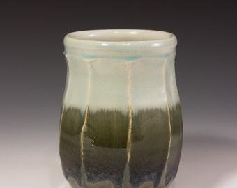 Large Utensil Holder, Utensil Keeper, Vase, Handmade Pottery