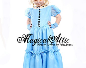 NEW Custom Boutique Alice in Wonderland Blue Dress Made To Size
