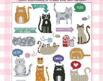 Cats Collection Cross Stitch Pattern PDF