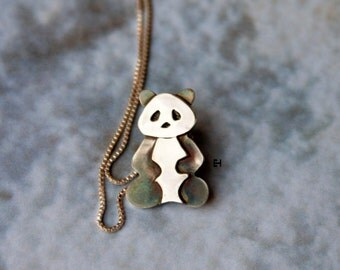 Sterling Silver Little Panda Necklace