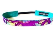 Fitness Headband, Running Headband, Workout Headband in Purple Tie-Dye
