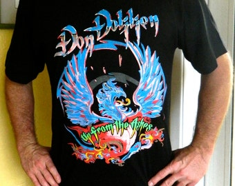 Don Dokken 1990 Up From the Ashes concert tour tee shirt size large