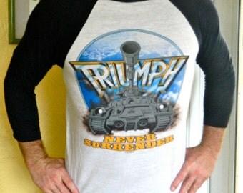 Triumph Never Surrender 1983 rock n roll vintage concert tour shirt size large