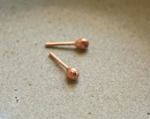 Copper Post Earrings Tiny Ball Post Earrings 3mm Handmade Jewelry