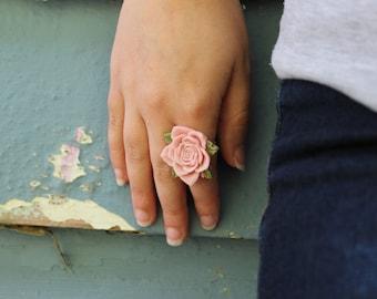 Adjustable Statement Flower Ring