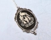 """Tattoo """"the other side""""  necklace silvertone"""