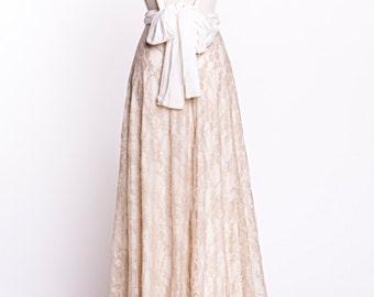 Backless wedding dress, boho wedding dress, golden lace bridal gown, lace maxi dress, boho bridal gown, gold lace wedding dress, bridal gown