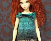 Blue Noro yarn tunic for Minifee / slim MSD / big Yo-SD