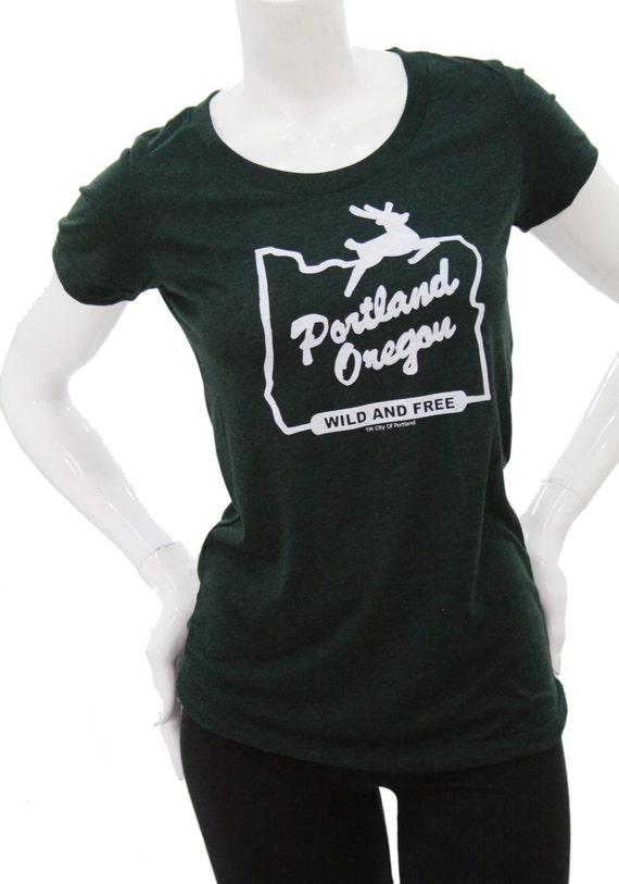 Made in oregon t shirt portland oregon wild free art by for Portland t shirt printing